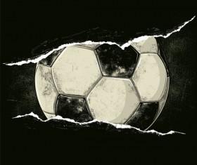 Football dark background vector