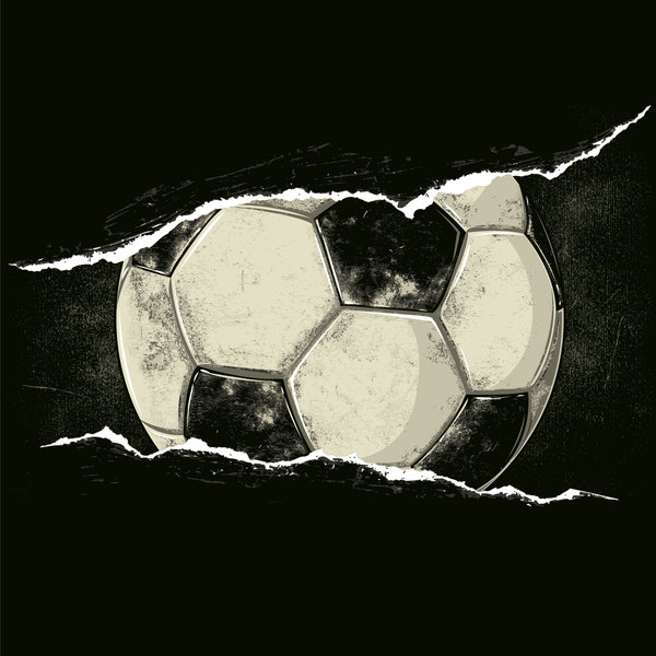 Football dark background vector