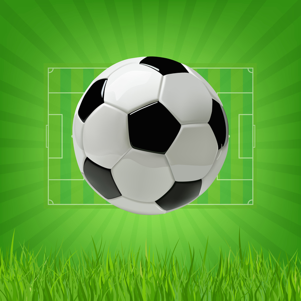 Football field background with soccer vector