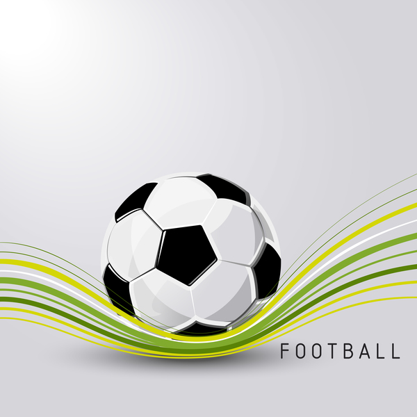 Football soccer ball sport vector abstract illustration background