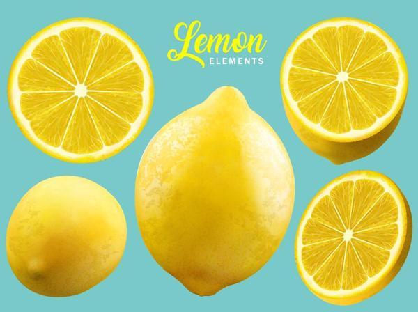 Fresh lemon background vector