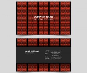 Geometric polygon business card remplate vector 01