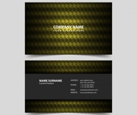 Geometric polygon business card remplate vector 02