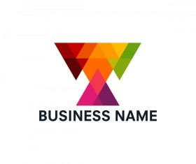 Geometric polygon business logo vector