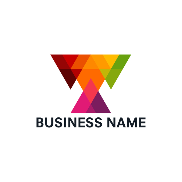 Geometric polygon business logo vector