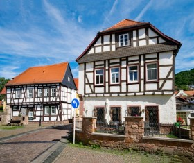 Germany rural architecture Stock Photo