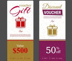 Gift voucher vertical card template vector 03
