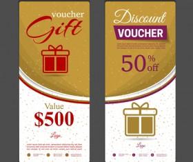 Gift voucher vertical card template vector 04