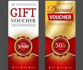 Gift voucher vertical card template vector 08