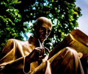 Golden Art Statue Stock Photo