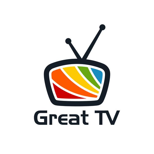 Great TV logo vector