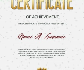 Green pixelated certificate template vector material 01