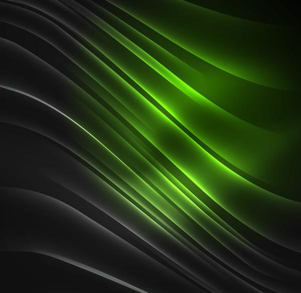 Green polar lights background vector 01