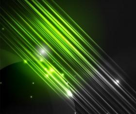 Green polar lights background vector 02