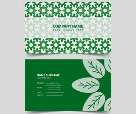 Green style business card vector