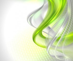 Green wavy transparent abstract backgrounds vector 01