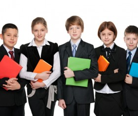 Group of happy students Stock Photo 01