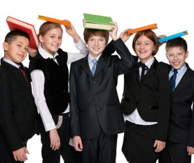 Group of happy students Stock Photo 03