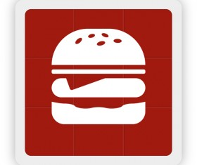 Hamburgers icon vector
