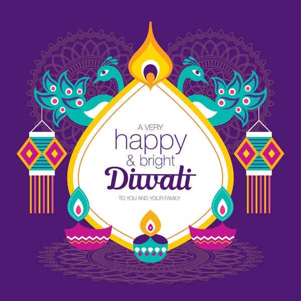 Happy Diwali Background Design Vectors 03 Free Download