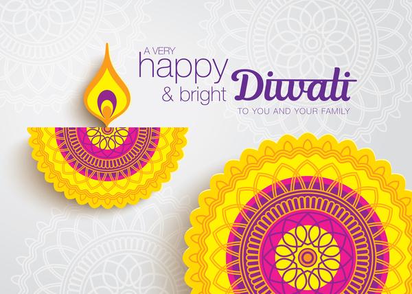 Happy Diwali Background Design Vectors 04 Vector