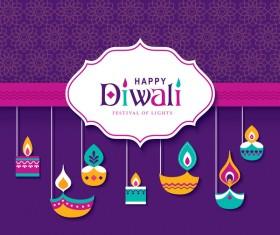 Happy diwali background design vectors 06