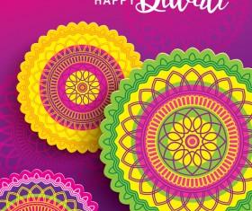 Happy diwali background design vectors 07