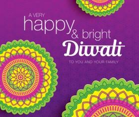 Happy diwali background design vectors 08