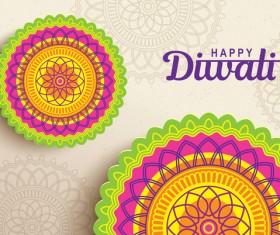 Happy diwali background design vectors 11