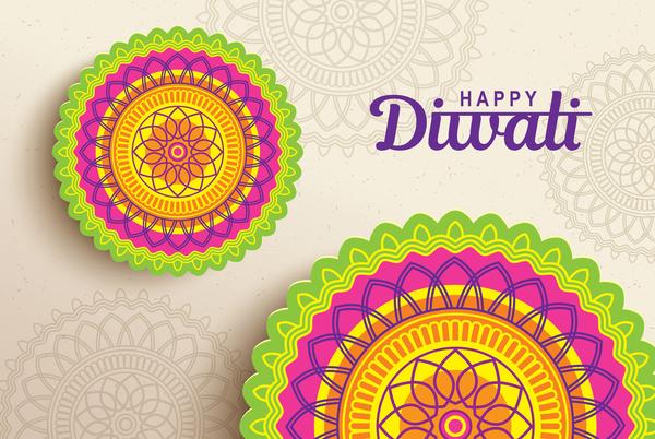 Happy Diwali Background Design Vectors 11 Vector