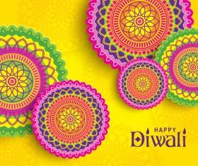 Happy diwali background design vectors 12