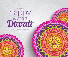 Happy diwali background design vectors 14
