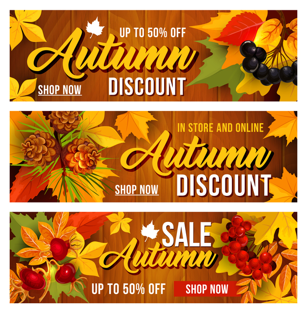 Harvest the fall banner vector material 03