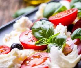 Healthy diet of Caprice salad Stock Photo 11