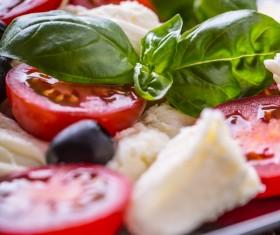 Healthy diet of Caprice salad Stock Photo 12
