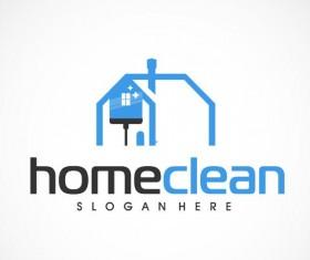 Home clean logo vector 01