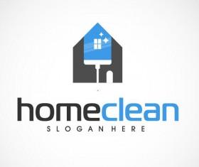 Home clean logo vector 02