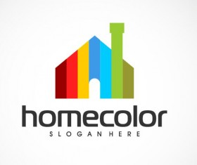 Home color logo vector