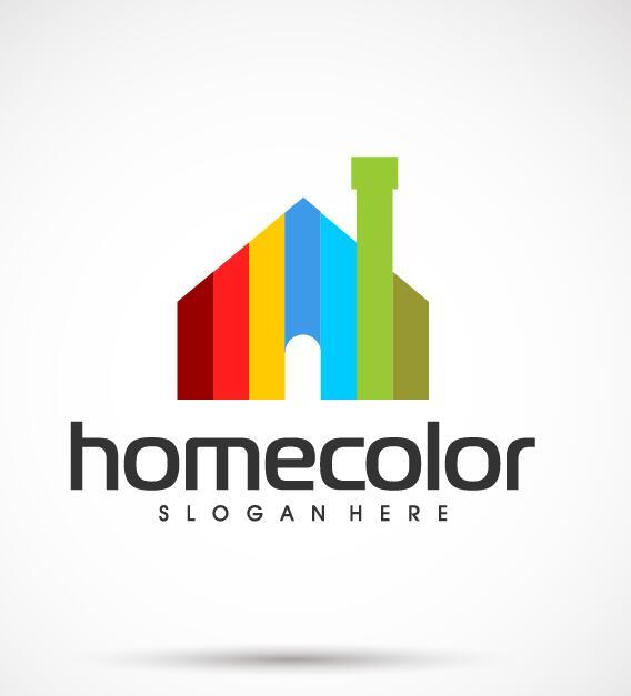 Home color logo vector
