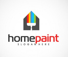 Home paint logo vector