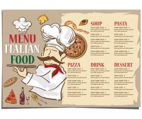 Italian food menu template vector design 02