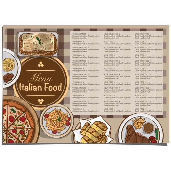 Italian food menu template vector design 10