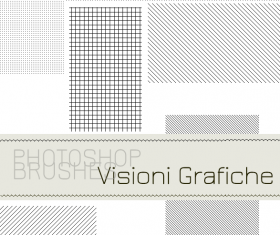 Lines and dots photoshop brushes