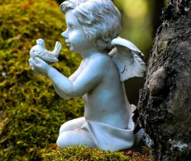Little angel sculpture Stock Photo