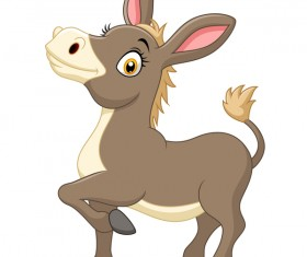 Little donkey cartoon vector