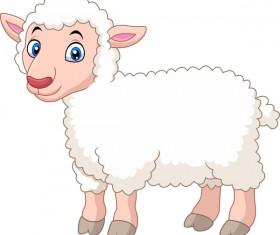 Little sheep cartoon vector