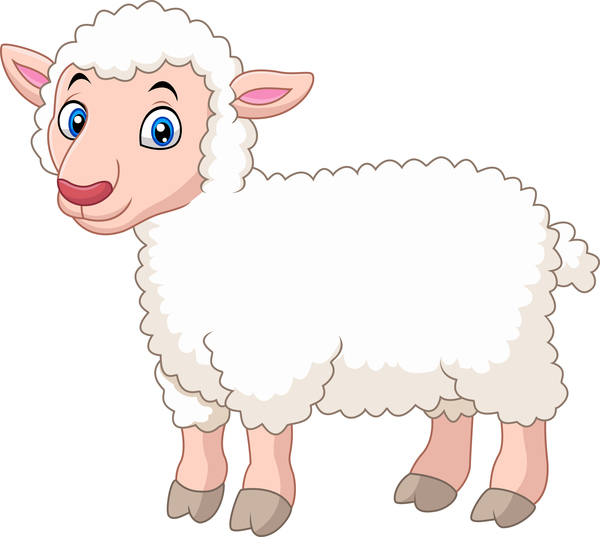 Little sheep cartoon vector
