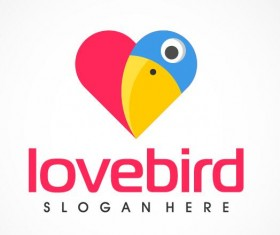 Love brid logo vector