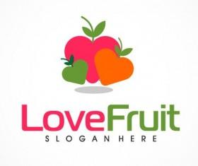 Love fruit logo vector