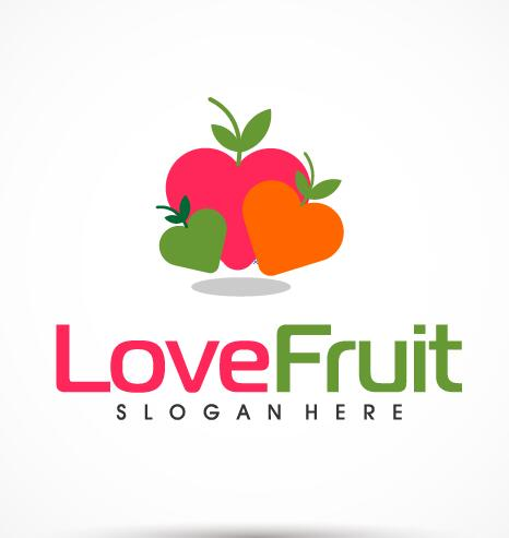 Love fruit logo vector